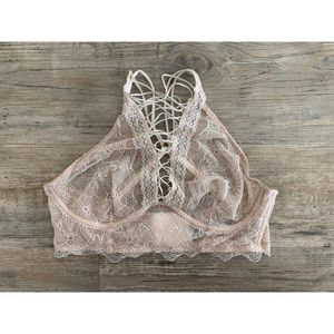 victoria's secret lace-up bralette